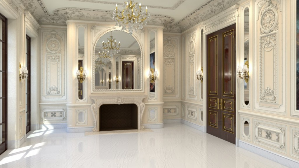 the-office-comes-equipped-with-a-fireplace-chandeliers-and-elaborate-molding