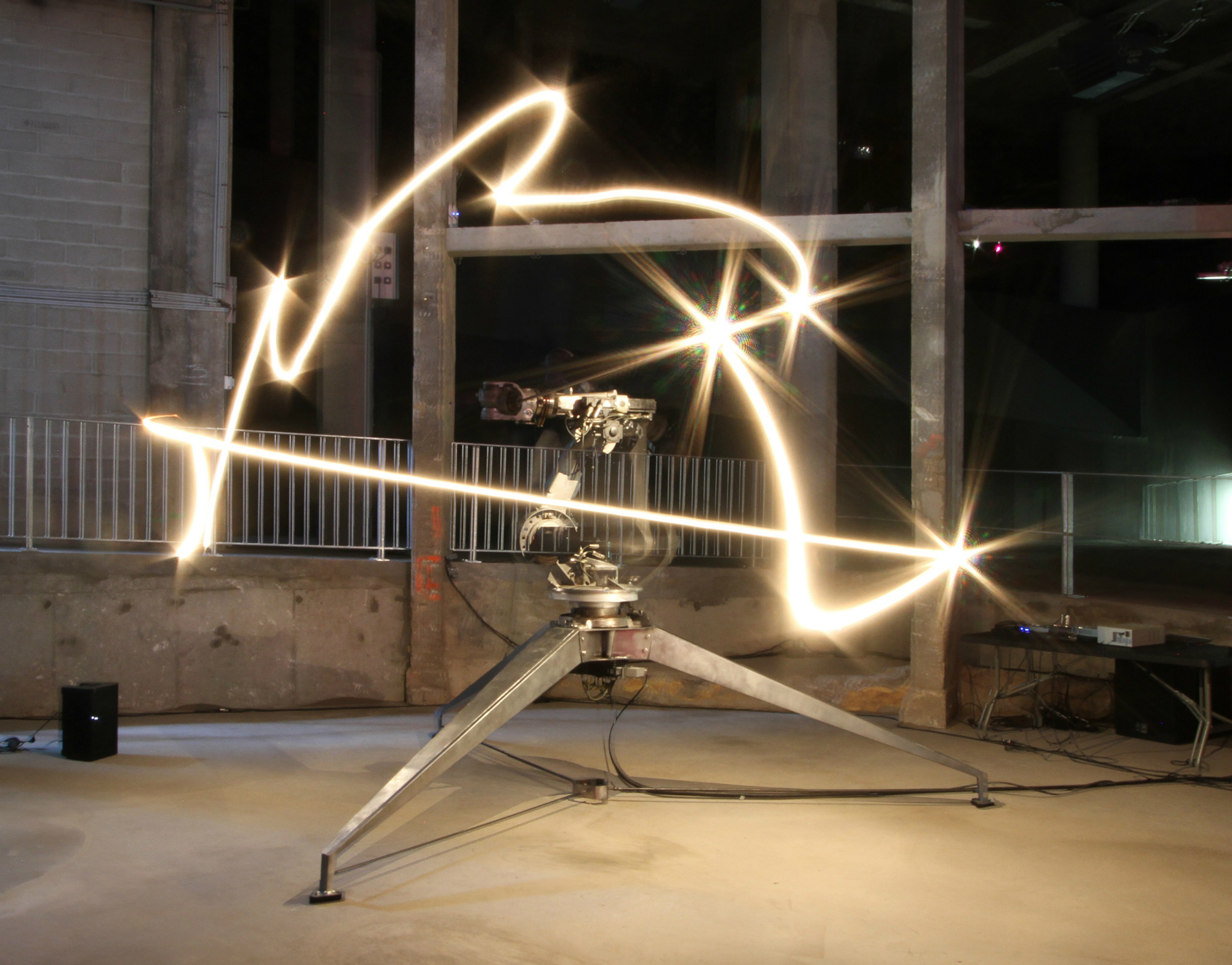 Conrad Shawcross, The ADA Project, 2013. Installation view at Palais de Tokyo, Paris. Courtesy the artist