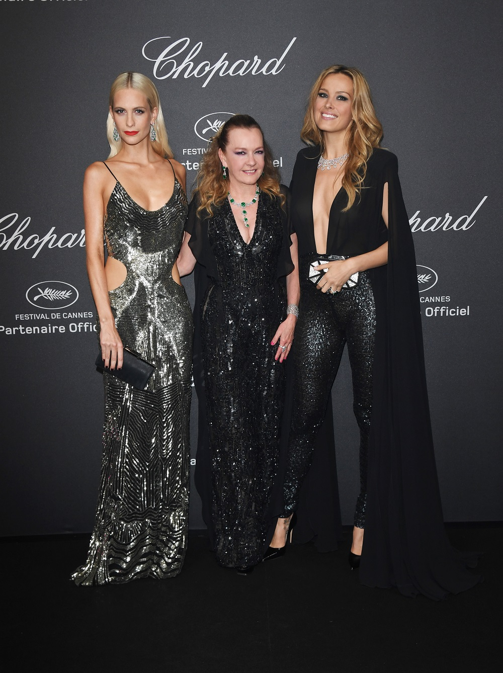 CANNES, FRANCE - MAY 16: (R-L) Petra Nemcova, Caroline Scheufele and Poppy Delevigne attend Chopard Wild Party as part of The 69th Annual Cannes Film Festival at Port Canto on May 16, 2016 in Cannes, France. (Photo by Daniele Venturelli/Getty Images) *** Local Caption *** Petra Nemcova;Poppy Delevigne;Caroline Scheufele