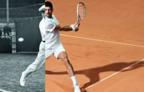 Lacoste monte au filet avec Novak Djokovic