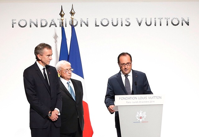 François Hollande inaugure la fondation Louis Vuitton