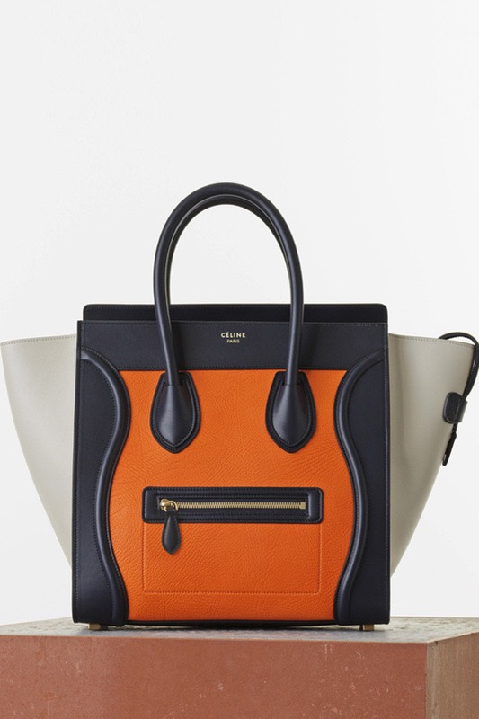 Céline Luggage Tote in Tricolor Elephant Calfskin $3,450