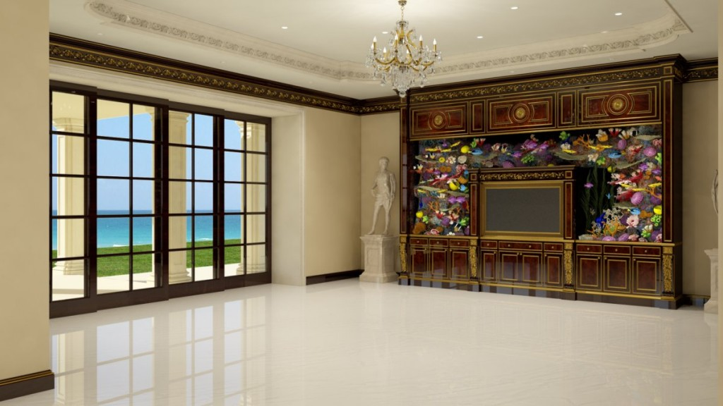 the-family-room-will-feature-a-1300-gallon-living-color-aquarium-that-surrounds-the-3d-tv