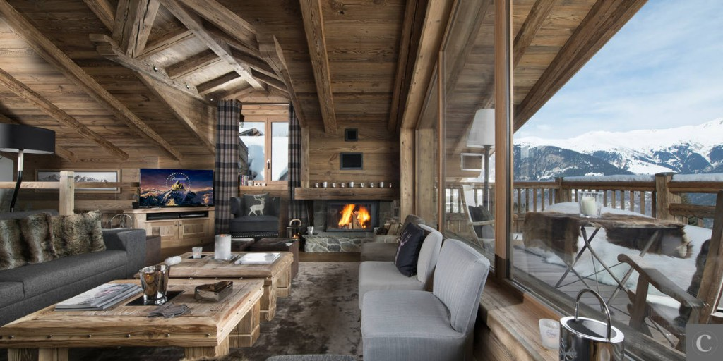Chalet l on le luxe courchevel riviera magazine for Idee di aggiunta di garage