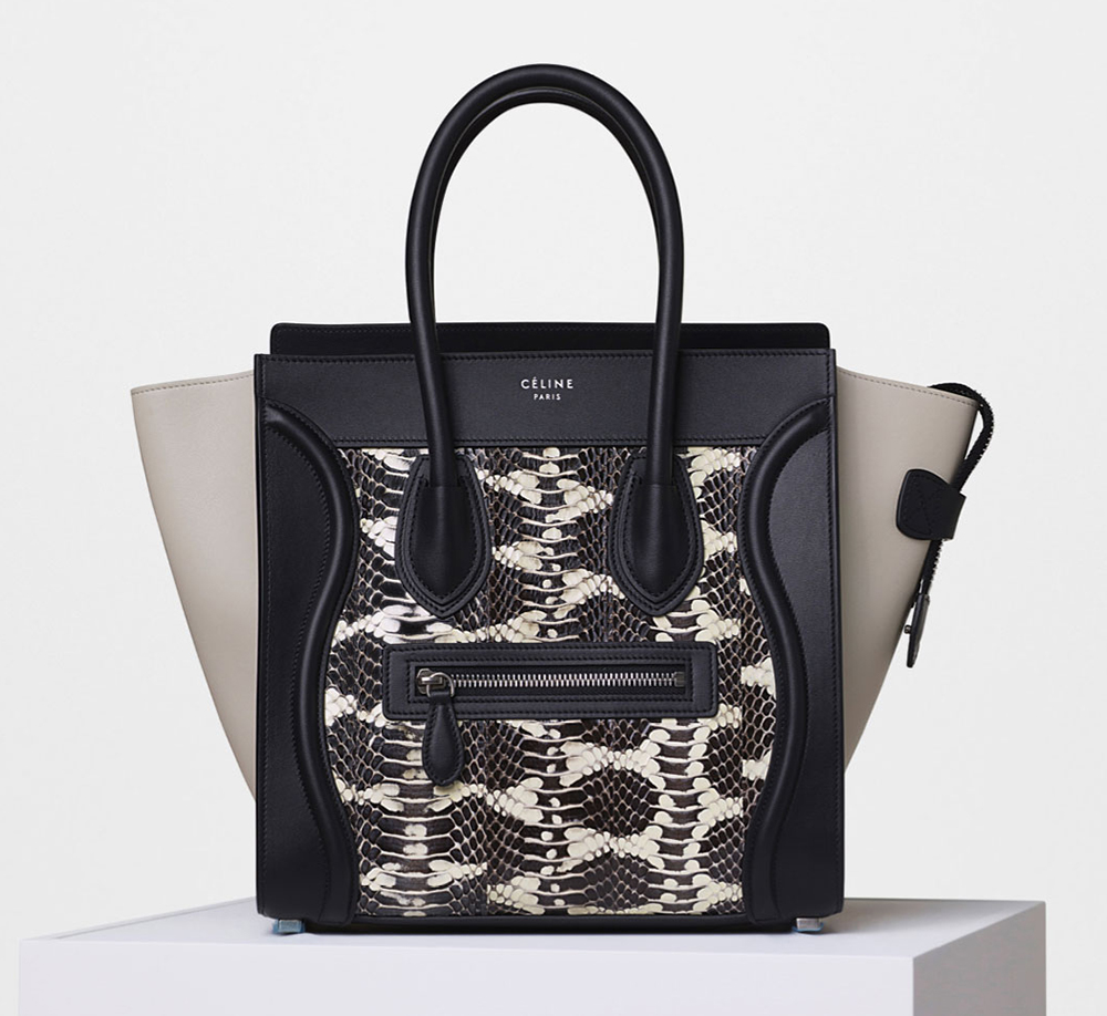 4350 Celine Watersnake Tote Micro Luggage AqSqXwxH1