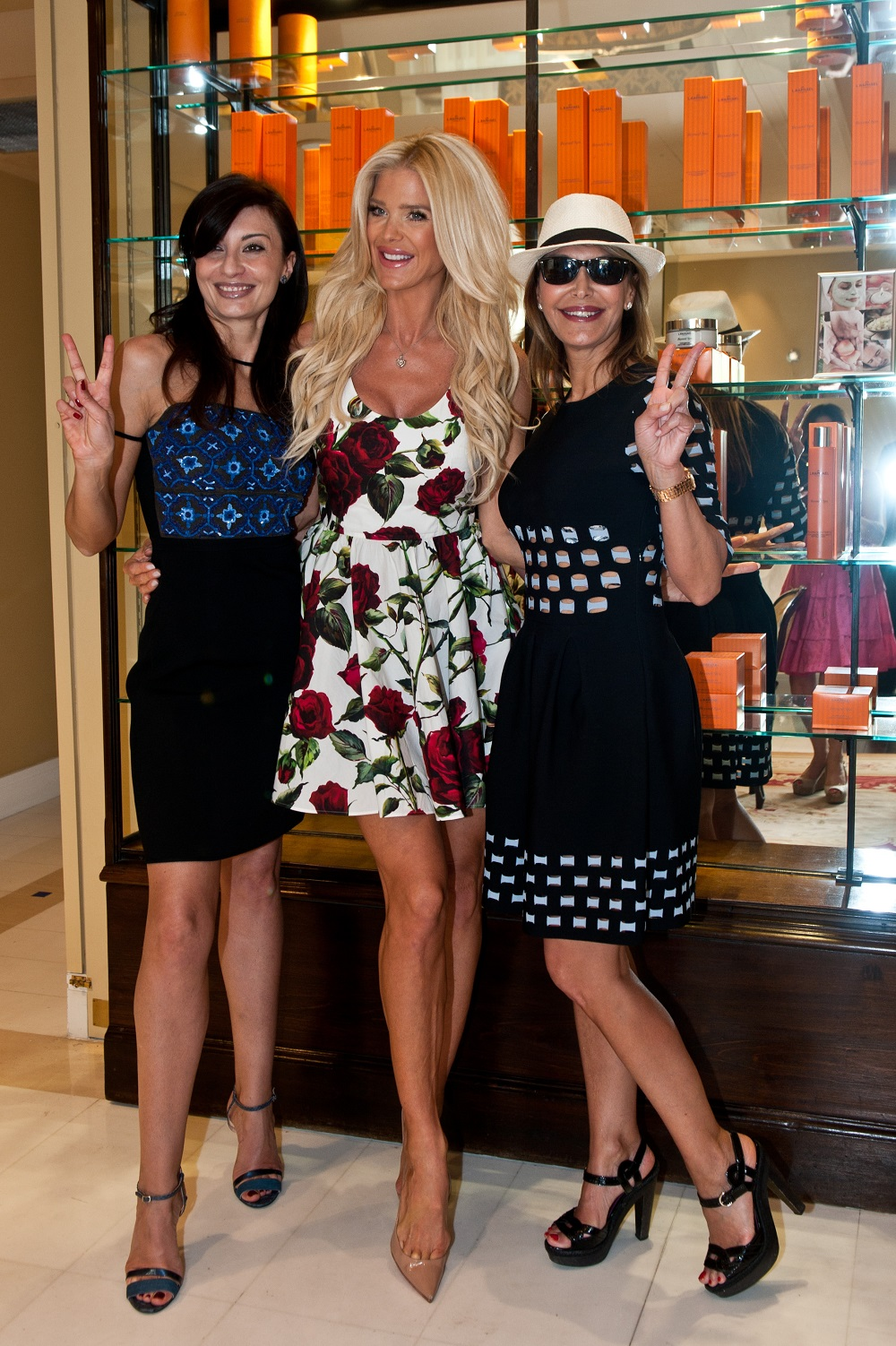 Alessandra Vicedomini, Victoria Silvstedt et Ronit Raphael - Photo Philippe Trannoy